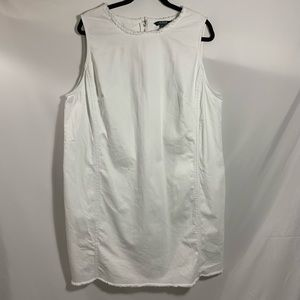 RALPH LAUREN white cotton dress